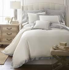 q diamente barolo hemstitch applique tencel cotton duvet covers