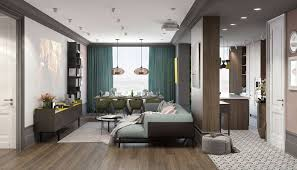 home interior color pair of modern homes with distinctively bright color themes