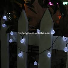 Outdoor Fairy Lights Solar by Smart Solar Outdoor String Lights White Crystal Ball Solar Powered