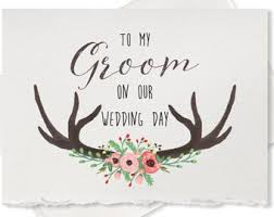 Card For Groom Groom Wedding Card Etsy