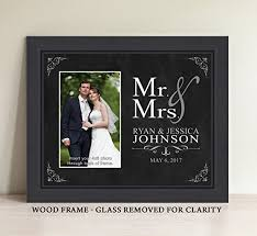 wedding gift amount 2017 personalized mr and mrs picture frame wedding gift