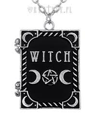 shaped necklace images Witch quot locket pendant book shaped necklace occult jewellery jpg