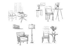 hand drawn furniture sketch illustrations creative market