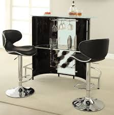 Home Bar Set by Furniture Black Corner Home Bar Furniture With Glass Shelves