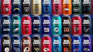 order nfl bud light cans beer with your team on it grant mason