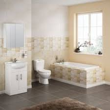 Contemporary Bathroom Suites - premier harmony 4 piece bathroom suite cc toilet u0026 1th basin