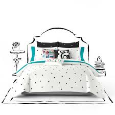 White Comforters Bed Bath And Beyond Kate Spade New York Deco Dot Twin Twin Xl Comforter Set In White