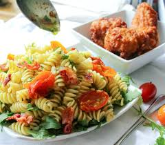 What Is Pasta Salad Easy Gourmet Blt Pasta Salad The Chunky Chef