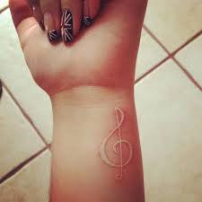 60 ideas for white ink tattoos note tattoo white ink and music