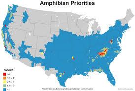China Usa Map by Mapping The Usa U0027s Amphibian Diversity