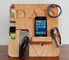 handmade personalized charging station for apple and