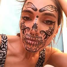day of the dead face temporary tattoos for cosplay halloween