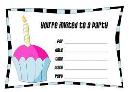 birthday invites print birthday invitations free best