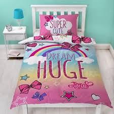 Duvet Quilt Cover Jojo Siwa Bows Cute Reversible Panel Single Bed Duvet Quilt Cover