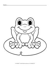 Best 25 Frog Coloring Pages Ideas On Pinterest Frog Template Frog Colouring Page