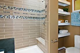 bathroom modern bathroom wall tile design with blue floral bathroom tiles shower design with brown subway ceramic tiles wall and mosaic glass tiles accent