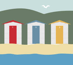 seaside beach huts free stock photo public domain pictures