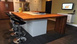 comptoir cuisine bois savoureuse tendance de concept giroux la cuisine