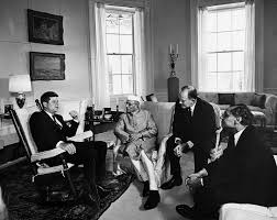 John F Kennedy Rocking Chair Ar6823 A President John F Kennedy Meets With Morarji Ranchhodji
