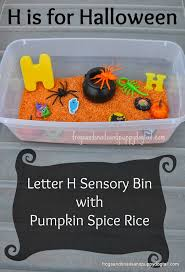 halloween sensory bin and learning letter h teach mama