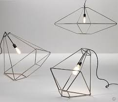 wire pendant light fixtures wire frame light pendants con tradition by opinion ciatti the