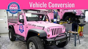 wrangler jeep pink vehicle conversion pink jeep tours youtube