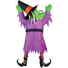 halloween blow ups clearance 5 u0027 witch hanging from the roof halloween inflatables