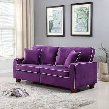 Purple Livingroom by Amazon Com Divano Roma Furniture Collection Modern Two Tone