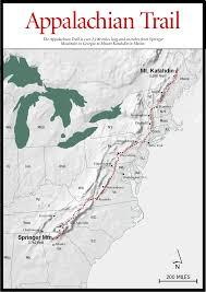appalachian mountains on map mountains trails appalachian trail map