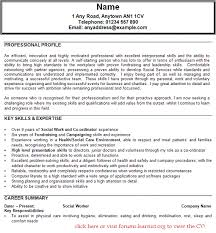 7 cv for social worker fillin resume