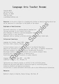 Resume Objective Statement For Teacher Resume Samples In Teaching Profession