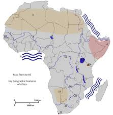 Physical Africa Map by Hist252 Modern Africa