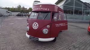 volkswagen bulli 1950 vw t1 bulli porsche rennsport truck service car with engine sound