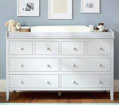 White Baby Dresser Changing Table Dresser With Changer Top Bedroom Top White Changing Table Topper