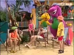 barney friends lets beach