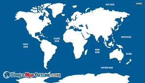 outline of world map oceans world map outline