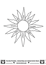 coloring pages sun coloring