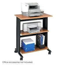Small Computer Printer Table Desk Compact Computer Desk With Printer Shelf White Computer