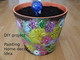 home decor how to paint flowerpot diy project touch of color youtube
