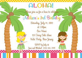 luau party invitations wording party xyz