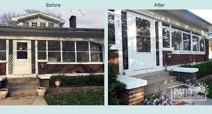 Turn Deck Into Sunroom Before U0026 After Sunroom Pictures Patio Enclosures Projects