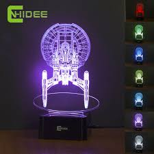 usb led night lamp star trek enterprize 3d nightlights as creative