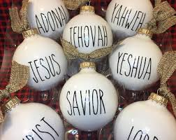 items similar to names of jesus ornament felt embroidery
