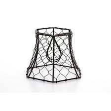 vintage style chicken wire lamp shade black clip on