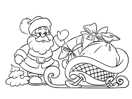 coloring pages santa claus christmas gifts stock photos