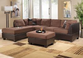 Modern Sectional Sofas Microfiber Living Room Wonderful Brown Living Room Furniture Sets With