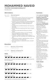 Good Engineering Resume Examples by Testing Engineer Resume Samples Visualcv Resume Samples Database
