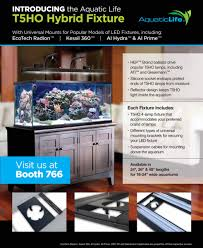 aquatic life debuts led t5ho hybrid mounting system fixture reef