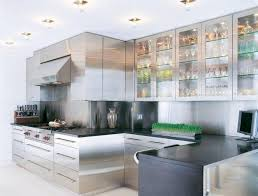 futuristic metal cabinets in your kitchen wearefound home design