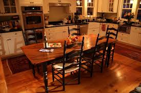 hand crafted gorgeous barn wood farm table in brown cherry by
